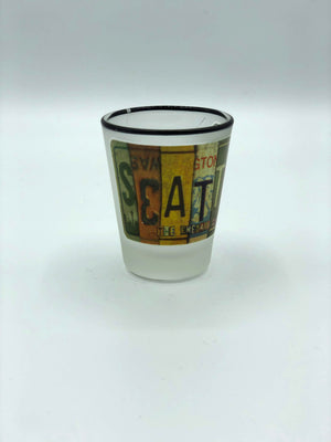 Seattle License Plate Shot Glass