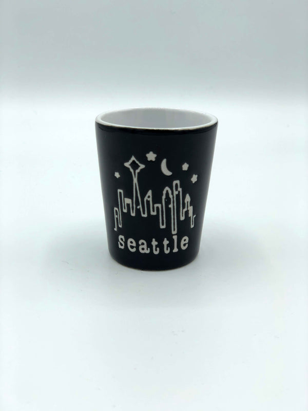 Black Coffee Capital Shot Glass