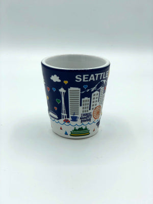 Seattle Wheel and Market Shot Glass