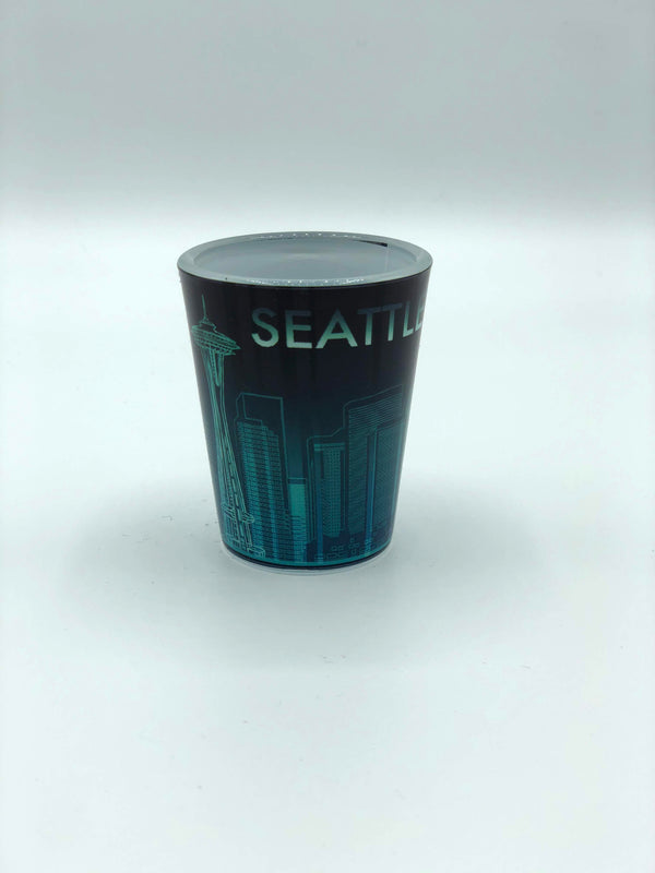 Blue/Green Downpour Shot Glass