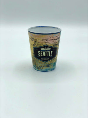 Map and Skyline Shot Glass
