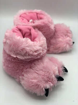 Pink Bear Paw Slippers