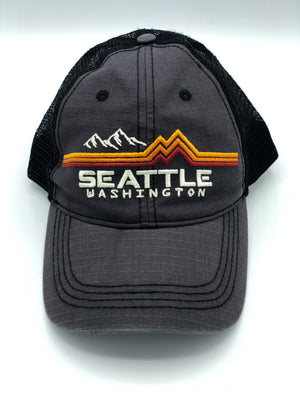 Band of Colors Charcoal and Black Hat
