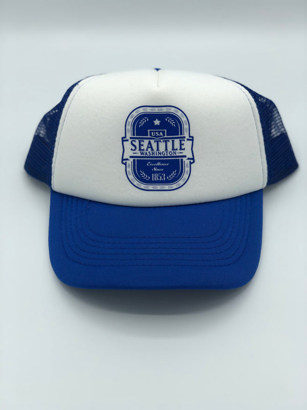 Excellence Foam Blue Hat
