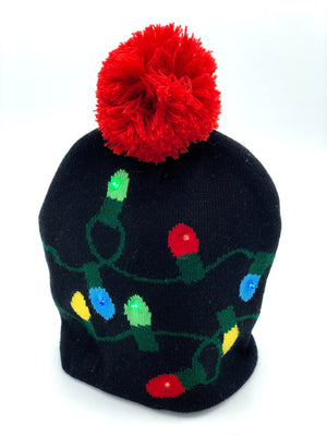 Holiday Lights Lit Beanie
