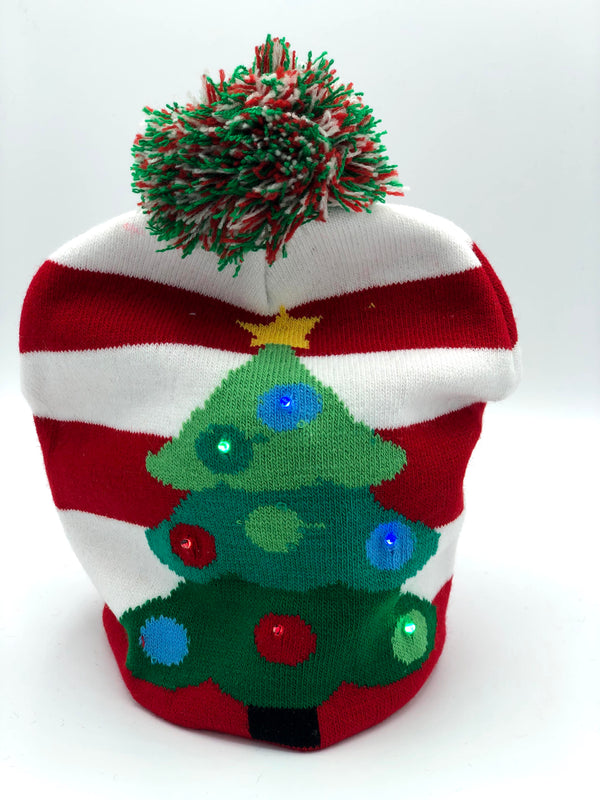 Christmas Tree Lit Beanie