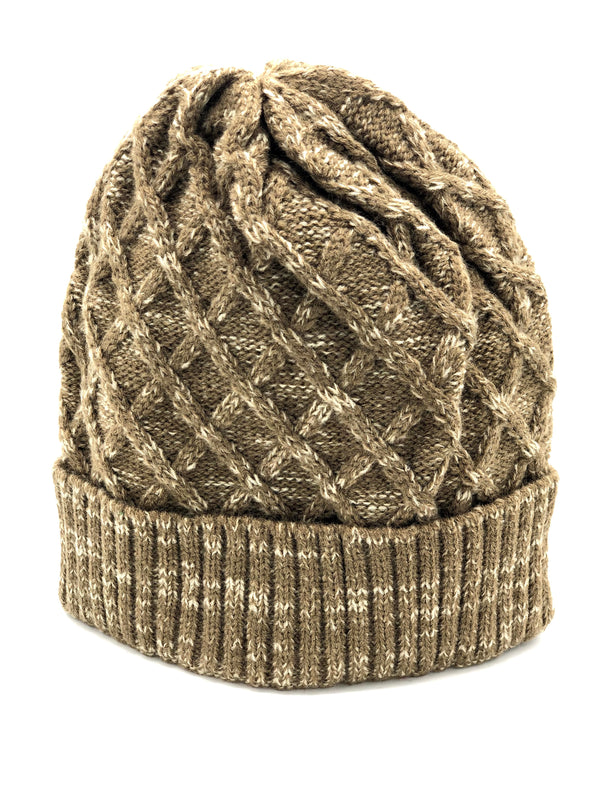 Men's Knitted Hat - Tan