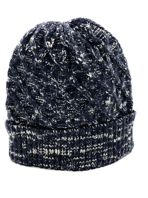 Men's Knitted Hat - Navy