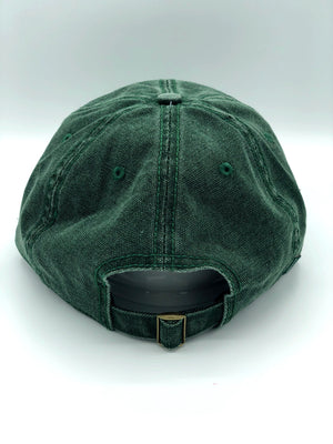 Seattle Stamp Mountain Green Adjustable Hat