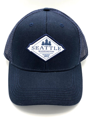 Seattle Snapback Trucker Hat - Navy