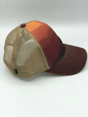 Mountain Sunset Snapback Trucker Hat