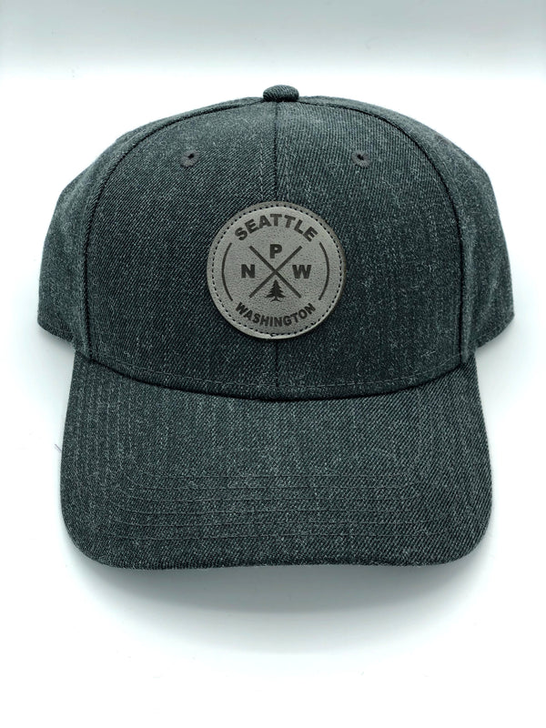 Seattle PNW Grey Adjustable Hat