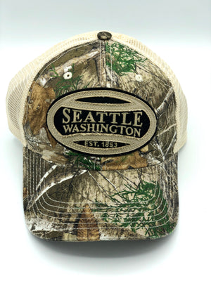 Seattle Real Tree Camo Snapback Trucker Hat