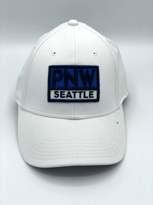 PNW Rectangle White Adjustable Hat