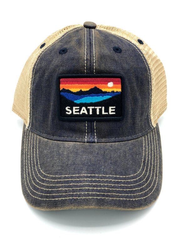 Navy Horizon Snapback Trucker Hat