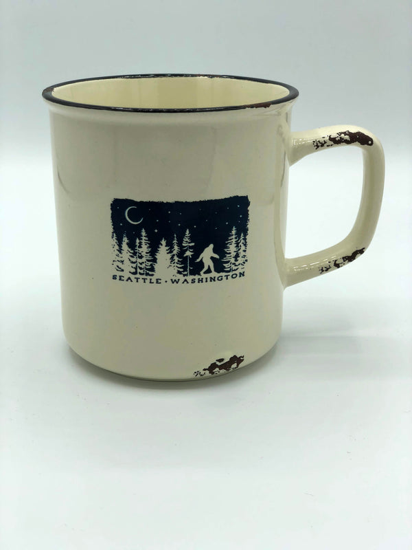 Night Scape Distressed Camp Mug