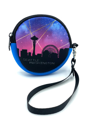Starry Seattle Skyline Coin Purse