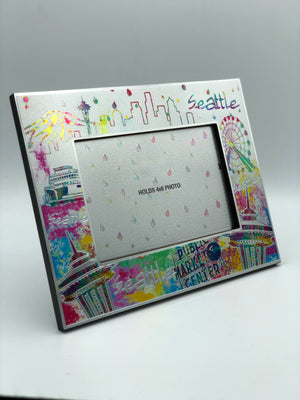 Confetti Seattle Skyline Picture Frame