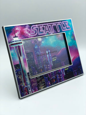Galaxy Seattle Skyline Picture Frame