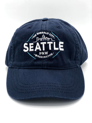 Reflective Text Adjustable Cap - Navy