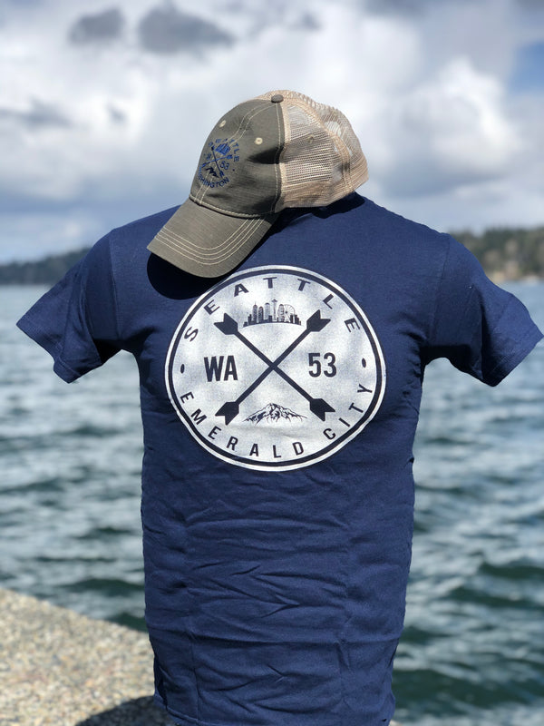 Emerald City Hat Shirt Combo - Navy/Brown