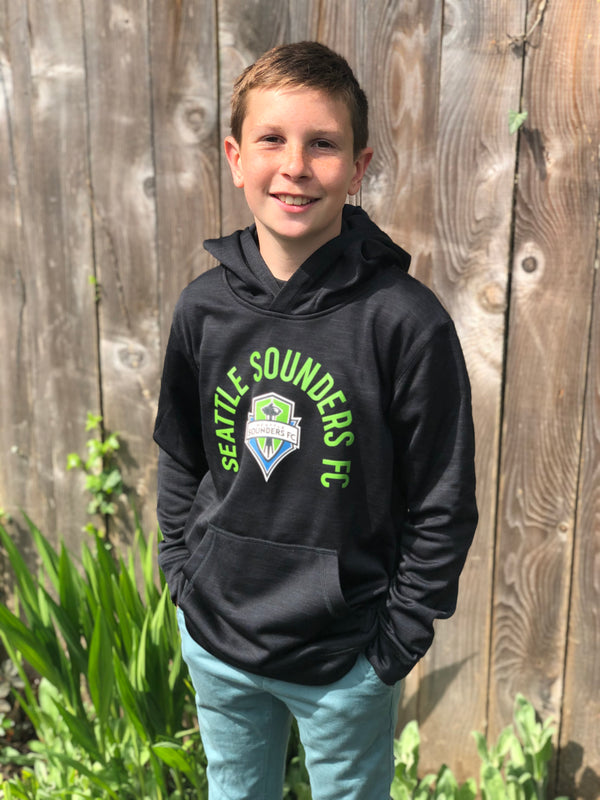 Youth Sounders Logo Hoodie - Black