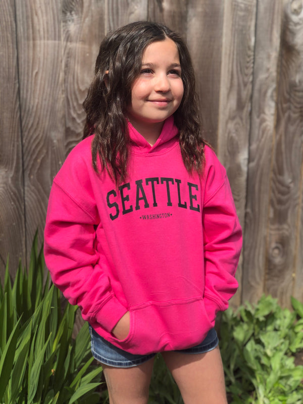Youth Dot Dot Seattle Hoodie - Pink