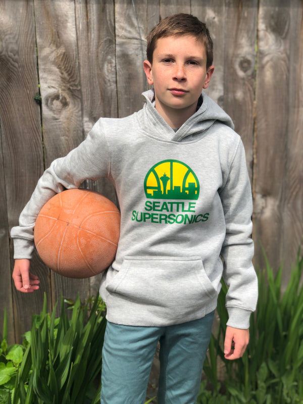 Youth Sonics Retro Hoodie - Grey