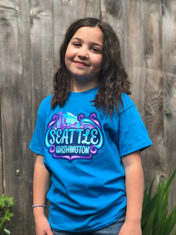 Youth Carnival Seattle T-Shirt - Turquoise