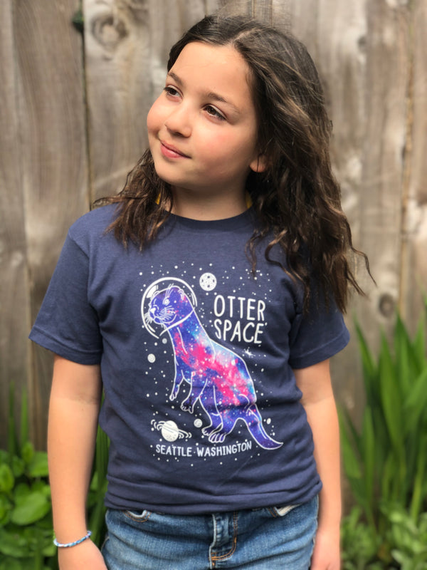 Youth Otter Galaxy T-Shirt - Midnight