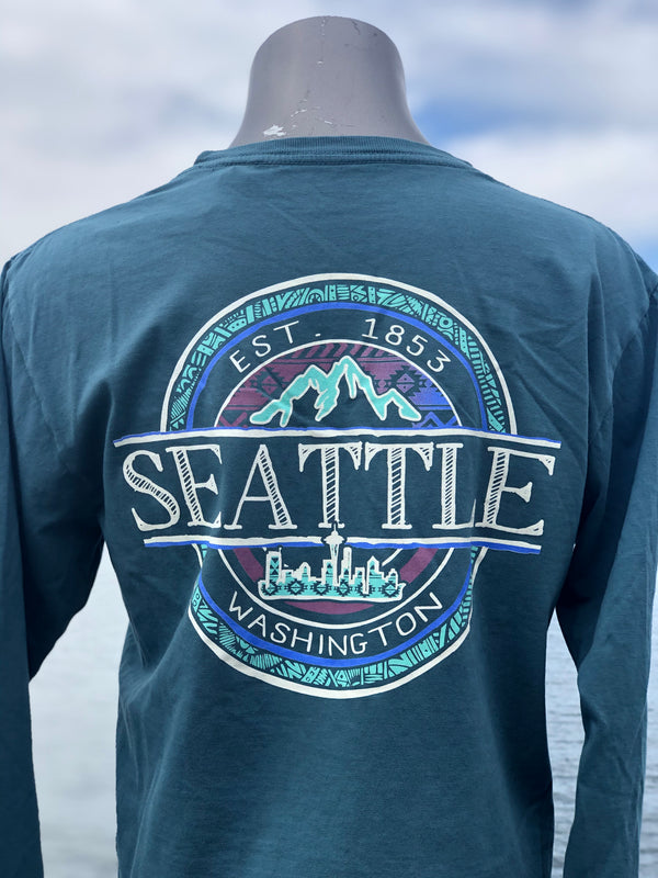 Summoners Mountain Long Sleeve T-Shirt - Teal