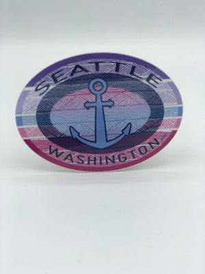 Seattle Oval Anchor Sticker