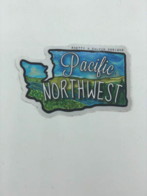 Small PNW Countryside Sticker