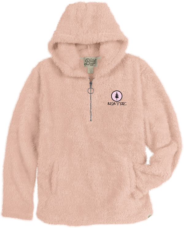 Ladies Reliven Pine Zip Up Hoodie - Pink