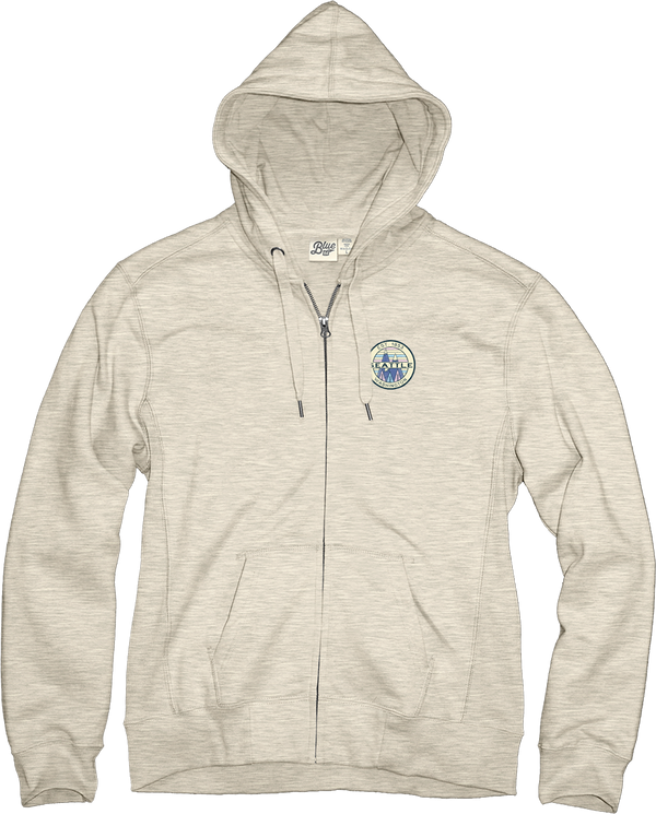 Ladies Zira Mountains Zip Up Hoodie - Oatmeal