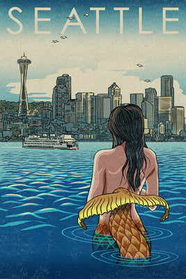 Seattle Mermaid Postcard