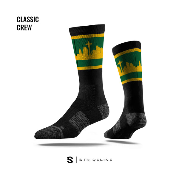 Simply Seattle Black Socks