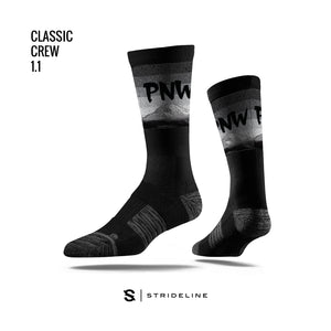 PNW Rainier Black Socks