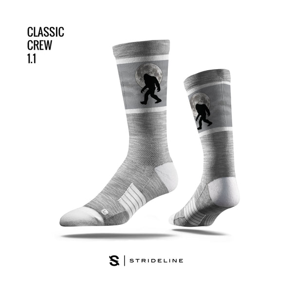 Sasquatch Moon Grey Socks