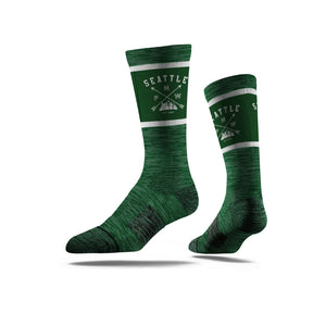 PNW Seattle Skyline Forest Green Socks