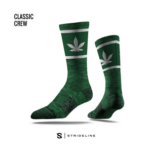 Pot Leaf Green Socks