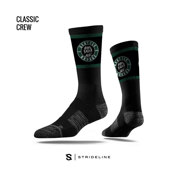 Seattle Grunge Nirvana Black Socks