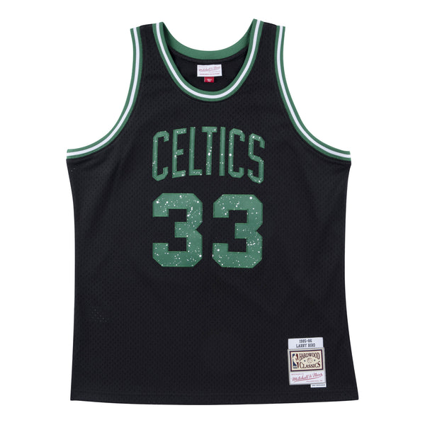 1985-86 Larry Bird #33 Authentic Blackout Swingman Jersey