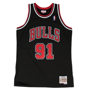 1997-98 Dennis Rodman #91 Authentic NBA Swingman Jersey