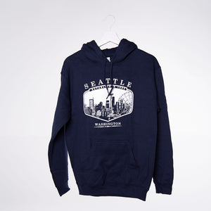 Encoded Lake Hoodie - Navy