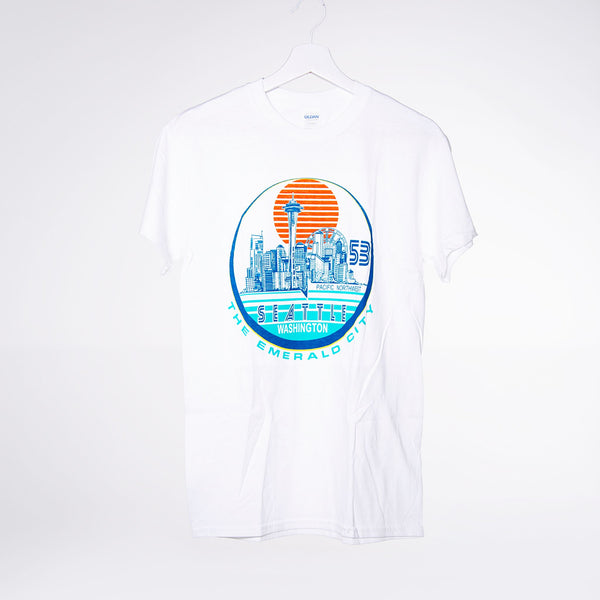 Vertical Sunrise T-shirt - White
