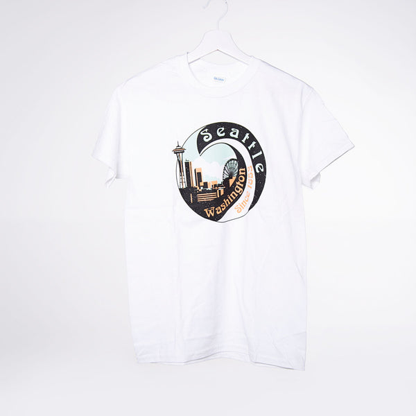 Seattle Swirl T-shirt - White