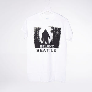 Bigfoot Forest Black T-shirt - White