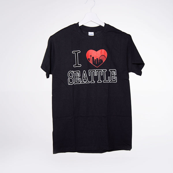 I Heart Seattle T-shirt - Black