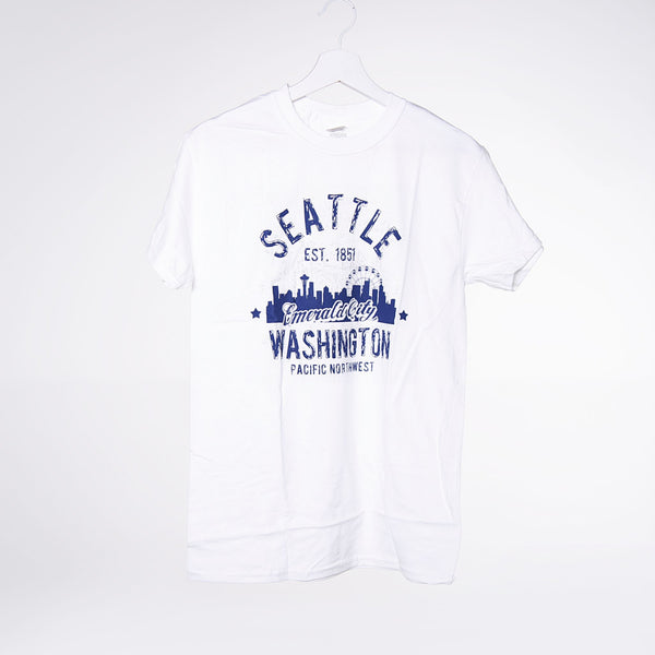 Arched Strip T-shirt - White